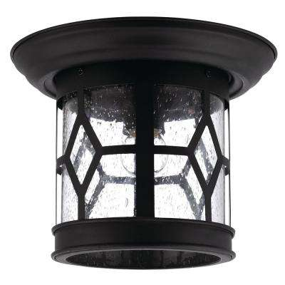 Atlanta 1-Light Outdoor Black Flush Mount
