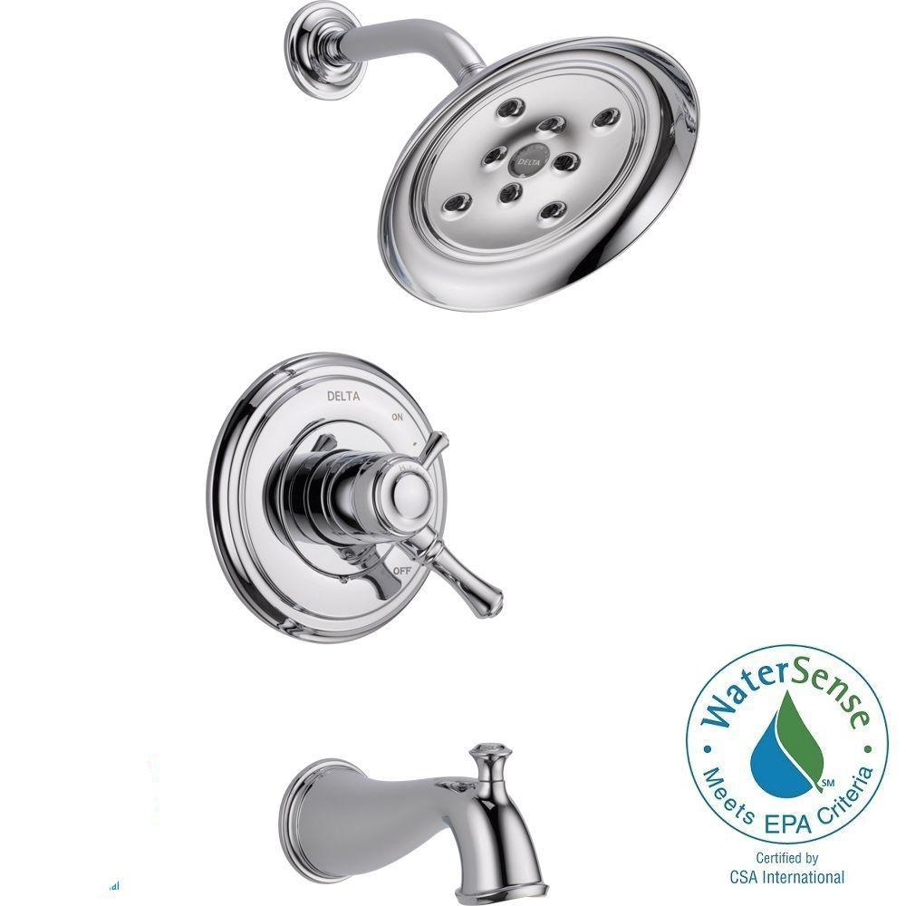 Cassidy 1 Handle H2Okinetic Tub And Shower Faucet Trim Kit Only In