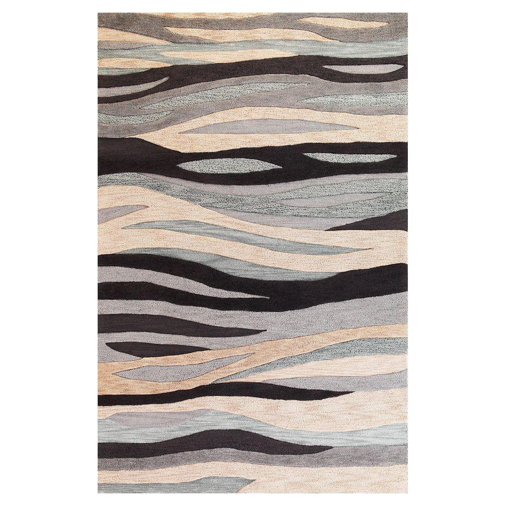 Kas Rugs Tidal Sands Grey 7 ft. 9 in. x 9 ft. 9 in. Area Rug