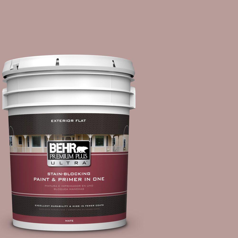 BEHR Premium Plus Ultra 5-gal. #710B-4 Quiet Refuge Flat Exterior Paint