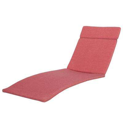 Salem Red Deep Seating Outdoor Chaise Lounge Cushion (2-Pack)