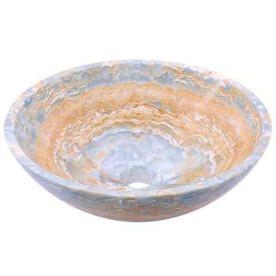 Stone Vessel Sink in Blue Onyx