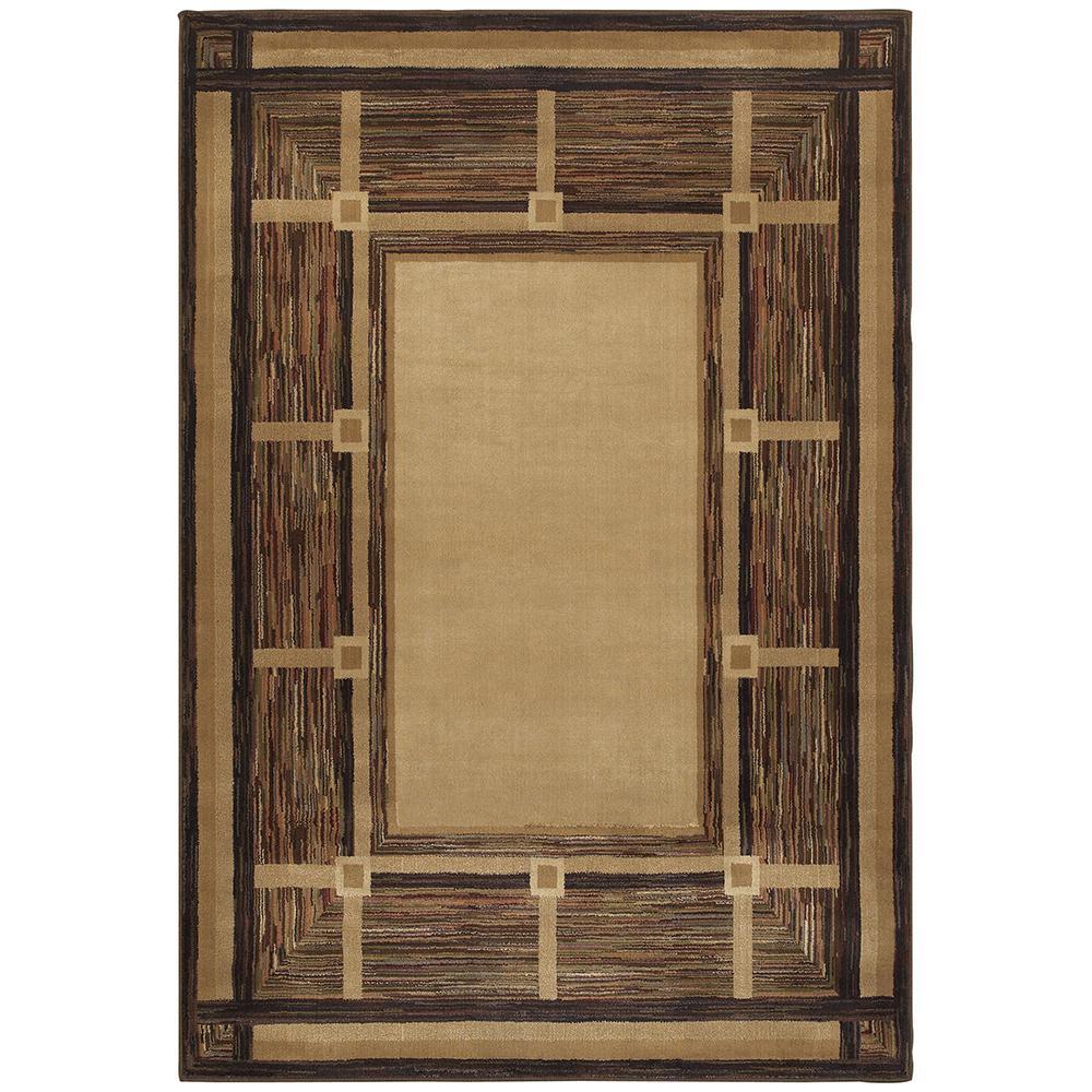 Oriental Weavers Riverway Brown 4 Ft X 6 Area Rug