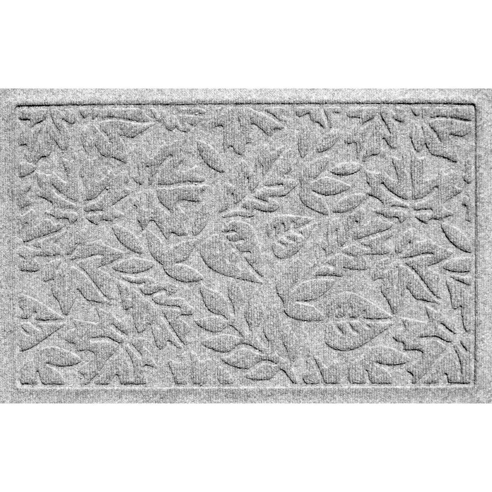 Bungalow Flooring Aqua Shield Fall Day Medium Grey 17.5 inch x 26.5 inch Door Mat by Bungalow Flooring