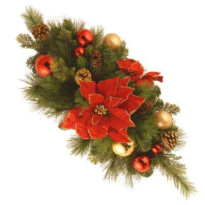 30 in. Decorative Collection Home for the Holidays Centerpiece