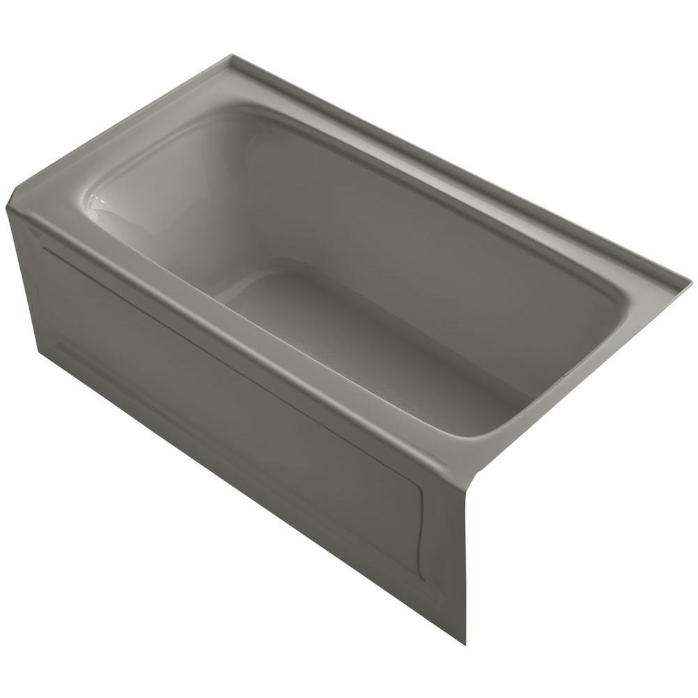 KOHLER Bancroft VibrAcoustic 5 ft. Right Drain Soaking Tub in Cashmere-DISCONTINUED