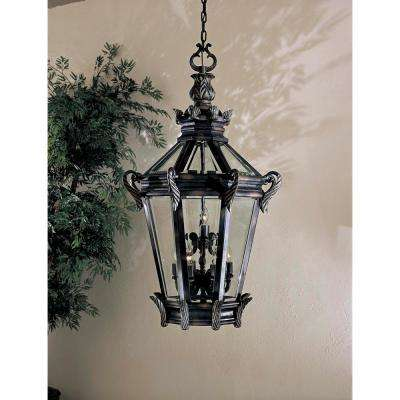 Stratford Hall Heritage with Gold Highlights 9-Light Outdoor Chain Hung