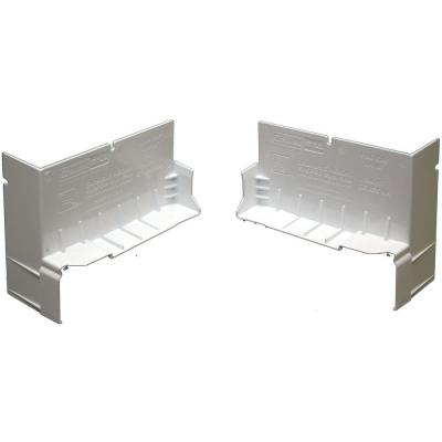 4-1/8 in. White PVC End Caps for SureSill Sloped Sill Pans (20 Pairs)