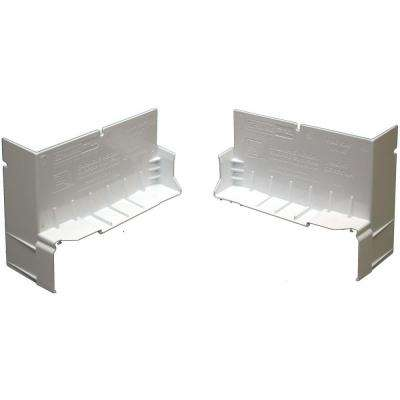 4-1/8 in. White PVC End Caps for SureSill Sloped Sill Pans (Pair)