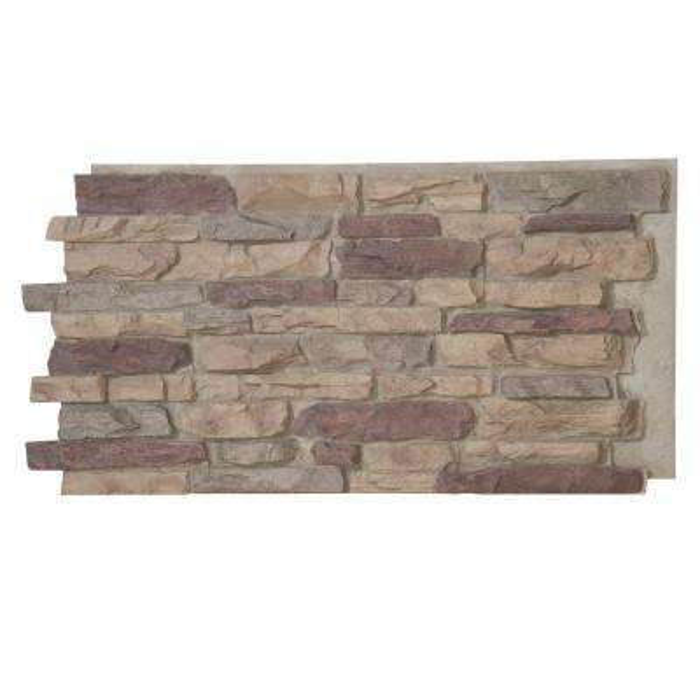 Denalia Faux Stone Panel 1-1/4 in. x 48 in. x 24 in. Bluff Polyurethane Interlocking Panel