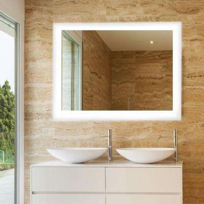 Led light bathroom mirrors bath the home depot led wall mounted backlit vanity bathroom led mirror aloadofball Gallery