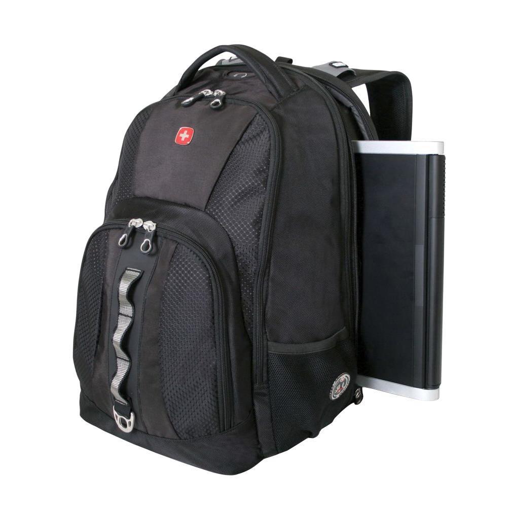 7db19adb907c SWISSGEAR Black ScanSmart Laptop Backpack-17532215 - The Home Depot