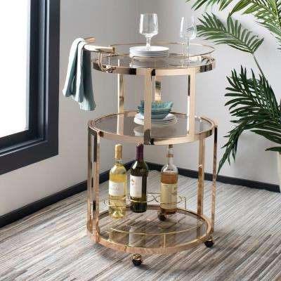Rio 3-Tier Gold Bar Cart