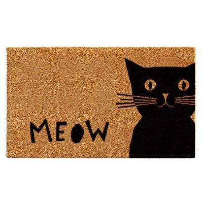 Meow Door Mat 17 in. x 29 in.