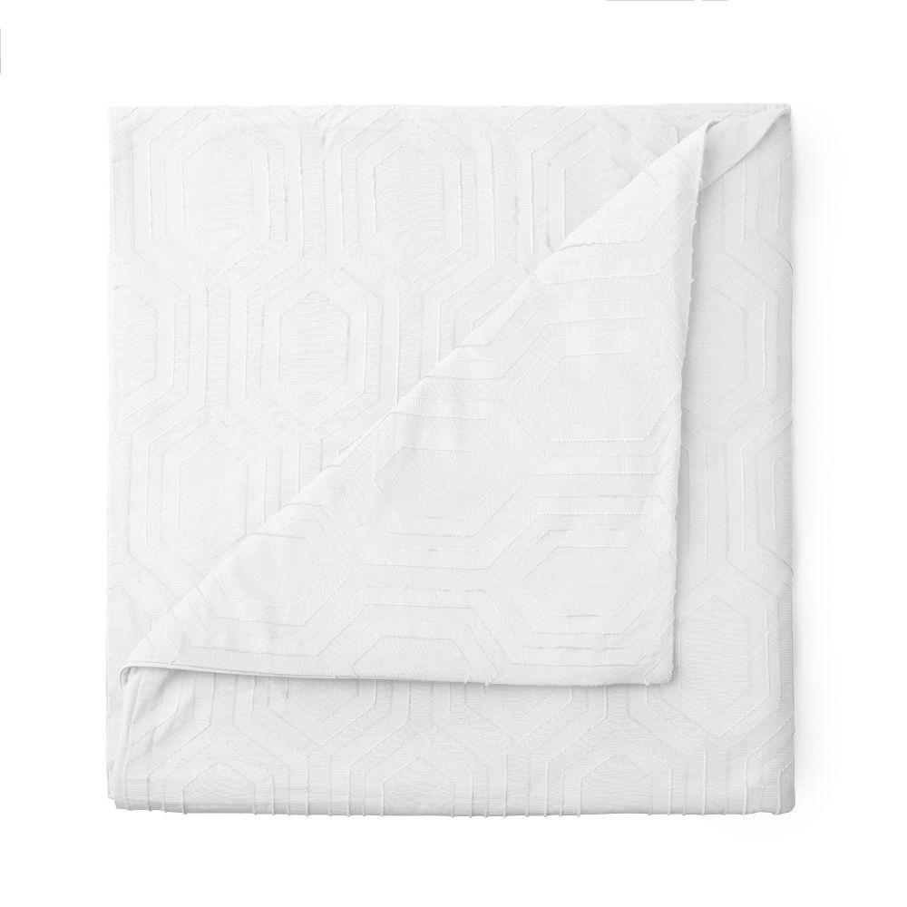 The Sahara Cotton White Full/Queen Duvet Set