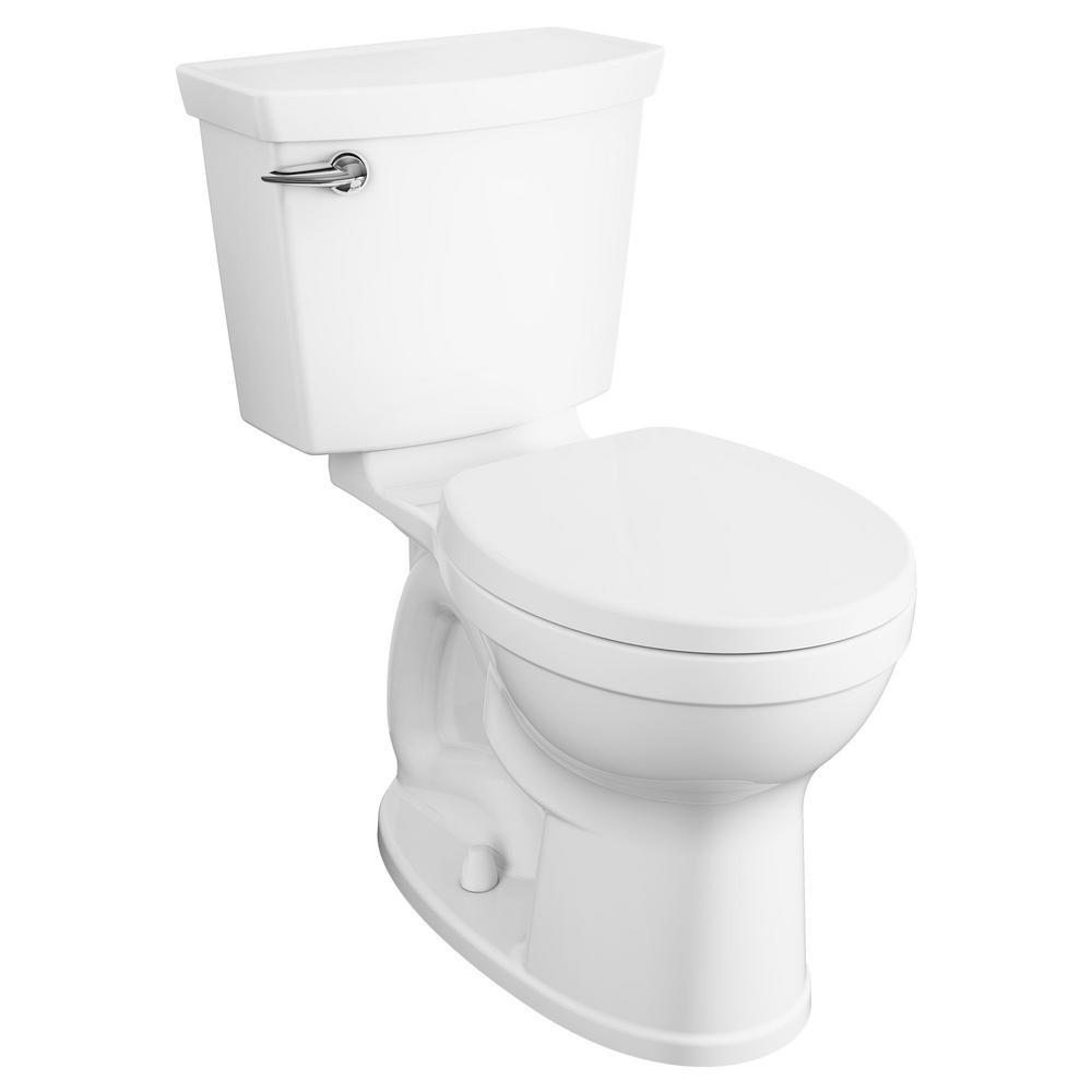 American Standard Champion 4 Max Tall Height 2-Piece 1.28 GPF Single Flush Round Front Toilet in White with Slow Close Seat (4-Pack)