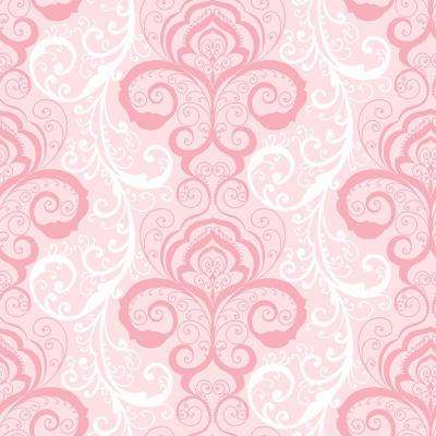 Drop Match Pink Damask Wallpaper Home Decor The Home Depot
