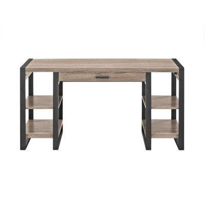 Urban Blend Ash Grey Desk with Storage