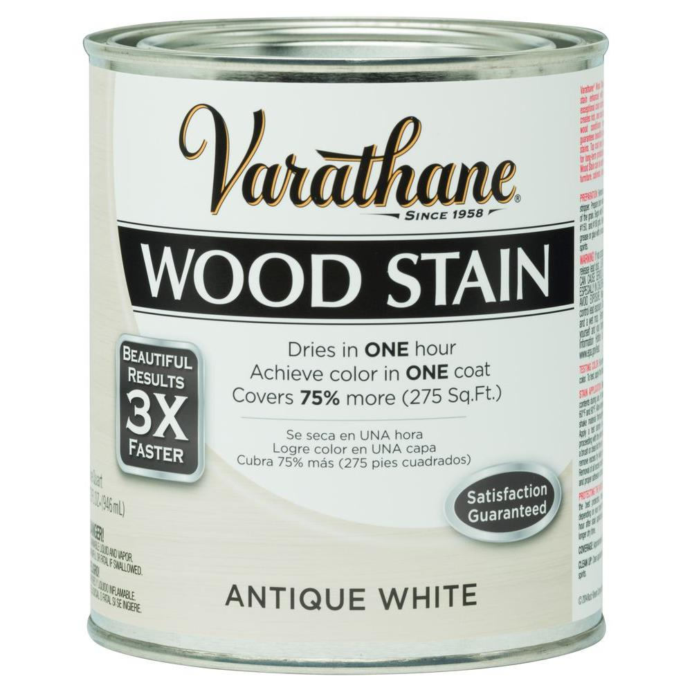Varathane 1 qt. 3X Antique White Premium Wood Interior Stain ...