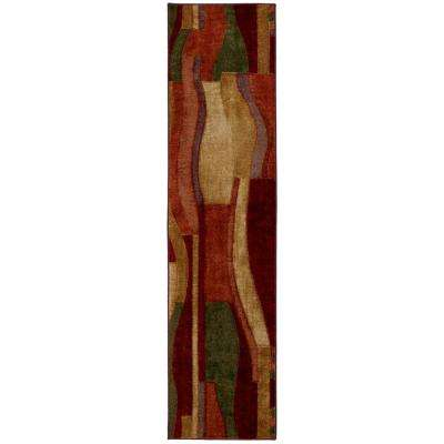 Picasso Wine 2 ft. x 8 ft. Rug Runner