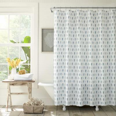 Pineapple Pinstripe 72in. Cotton Shower Curtain