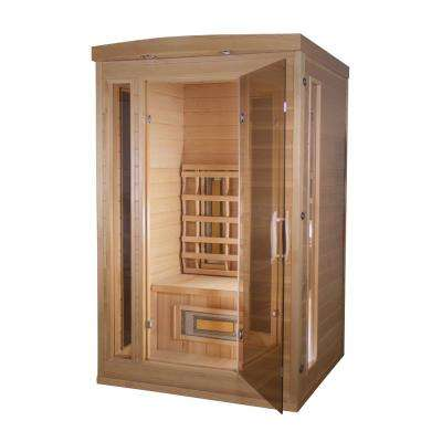 Thera Classic 2-Person, 8 -TheraMitter Ceramic Heaters, Hemlock Wood, SoftTouch Control, Far Infrared Sauna