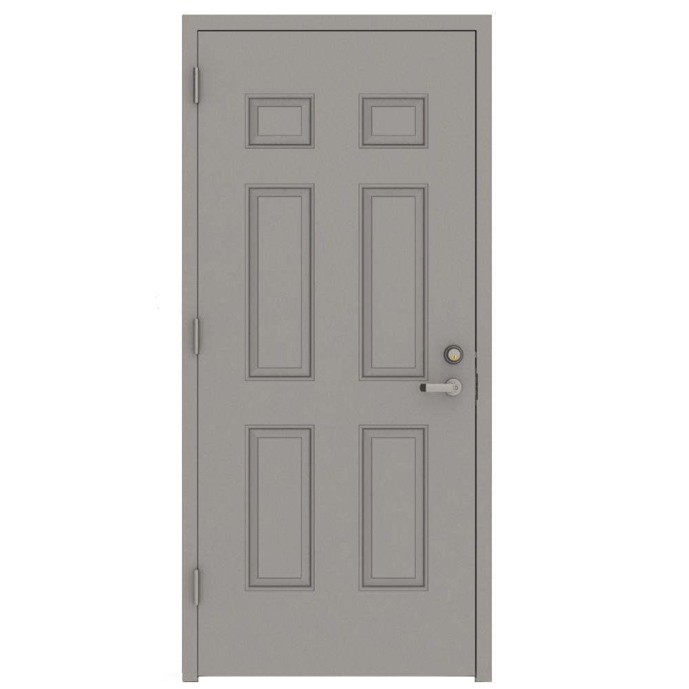 Lif Industries 32 In X 80 In Gray Right Hand 6 Panel Security