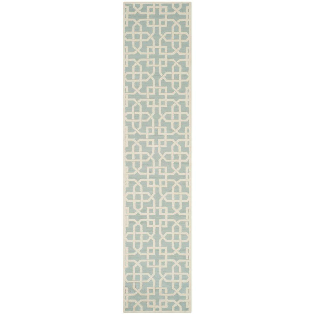 Safavieh Newport Light Blue/White 2 ft. x 10 ft. Runner Rug