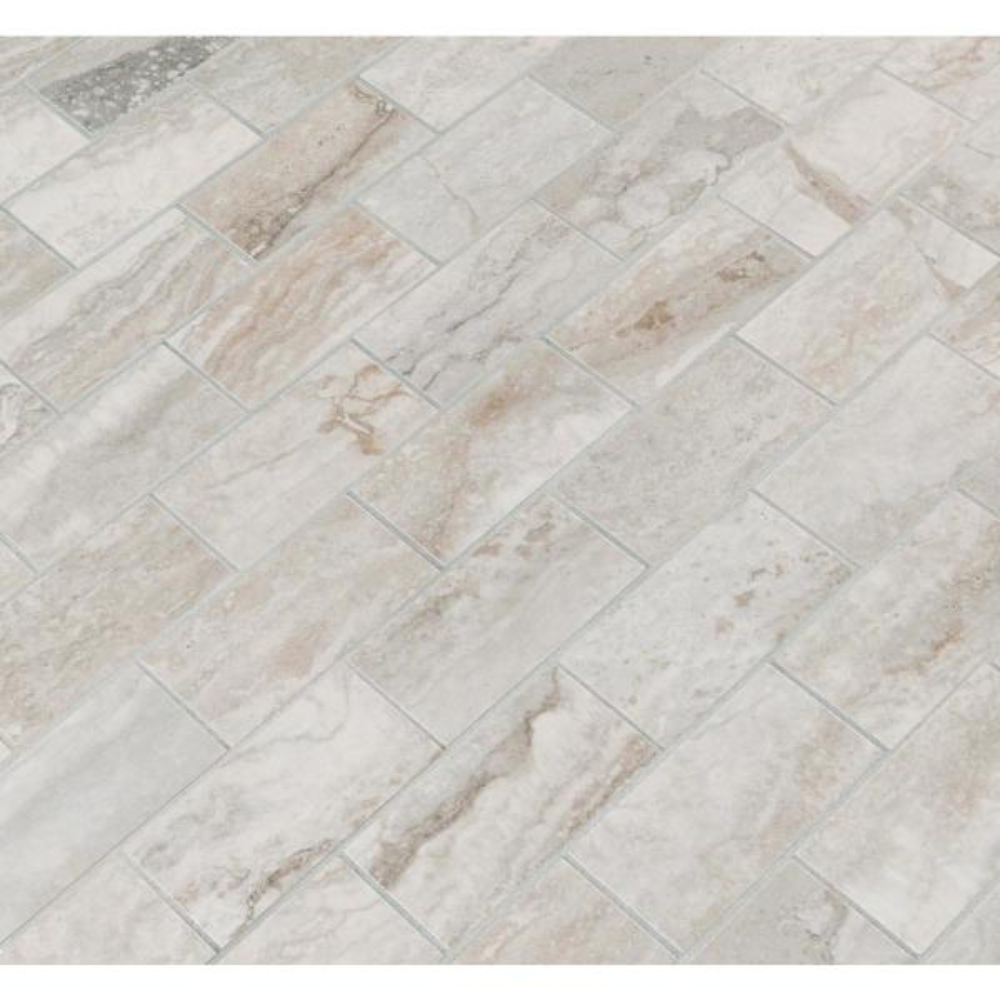 8 Square Feet 12 in x 12 in Gray MS International AMZ-M-00241 Pietra BERNINI CAMO 2X4 Mosaic Polished Porcelain Mesh