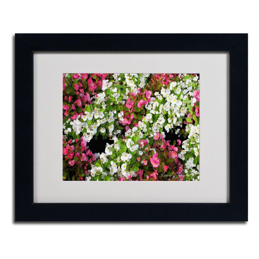 11 in. x 14 in. Begonia Garden Matted Framed Art