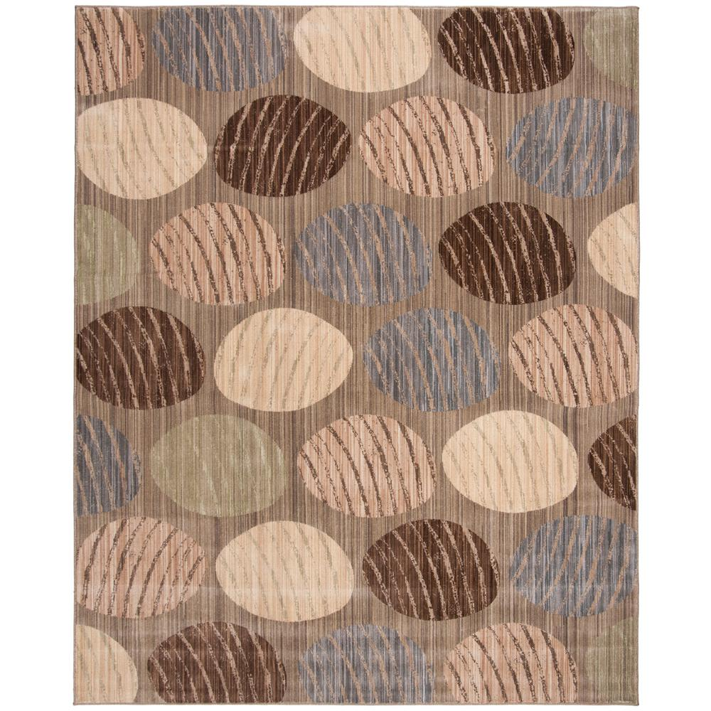 Infinity Taupe/Beige 8 ft. x 10 ft. Area Rug