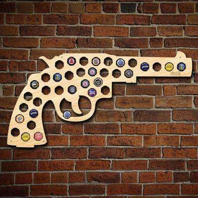 24 in. x 12 in. Large Gun/Revolver Beer Cap Map
