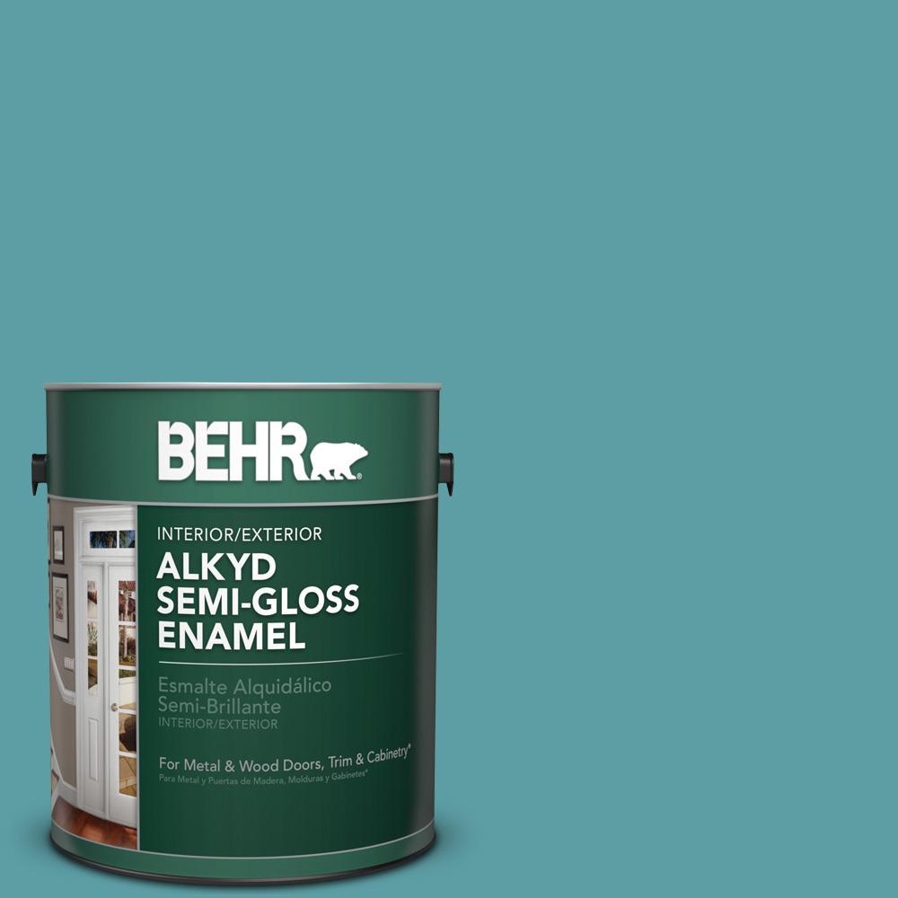 1 gal. #PPU13-5 Bali Bliss Semi-Gloss Enamel Alkyd Interior/Exterior Paint