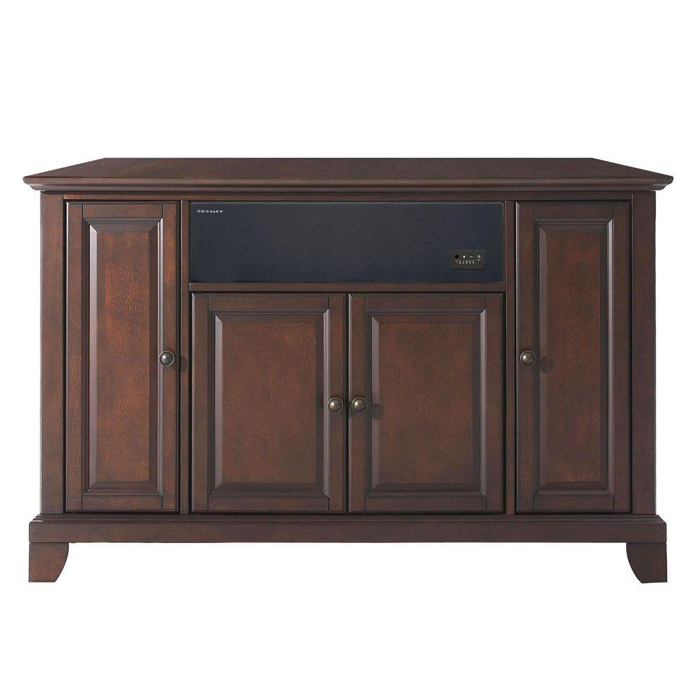 Crosley Newport Mahogany AroundSound TV Stand-DISCONTINUED