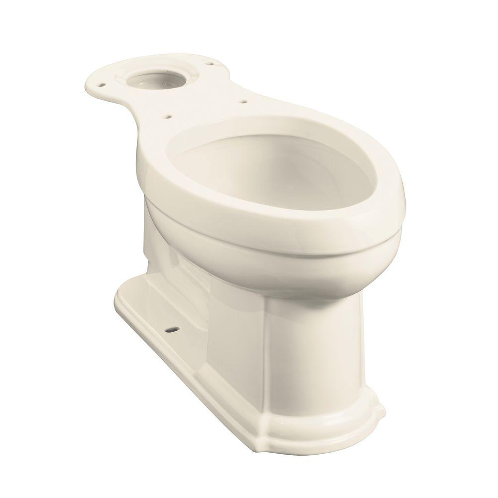 Devonshire Comfort Height Elongated Toilet Bowl Only in Almond
