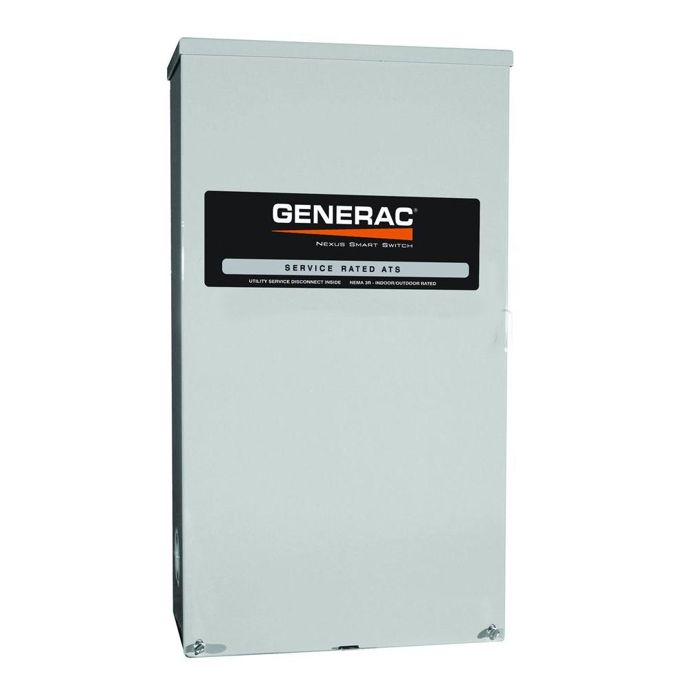 Generac 120/240-Volt 200-Amp Fused Indoor/Outdoor Smart Switch/Transfer Switch