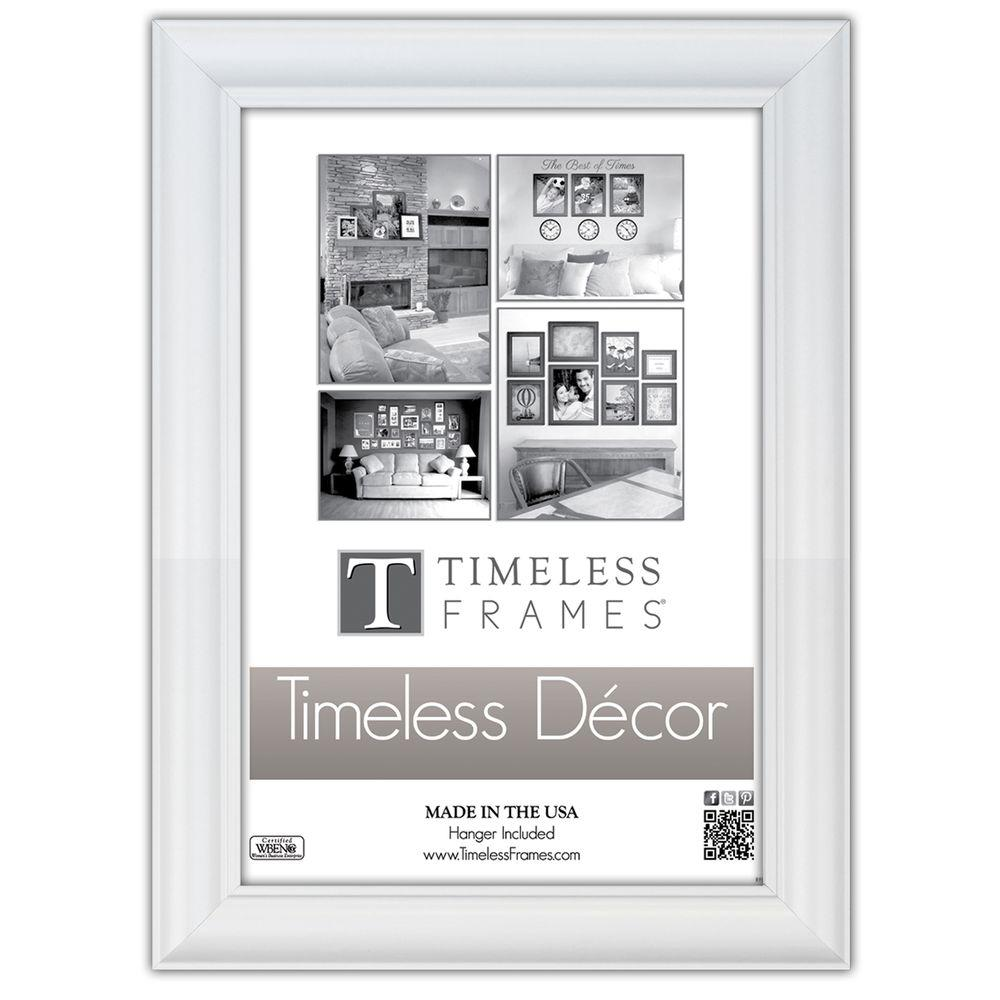 Timeless Frames Boca 1-Opening 18 in. x 24 in. White Picture Frame ...
