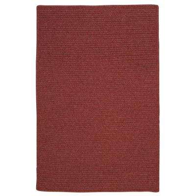 Wilshire Rosewood 4 ft. x 6 ft. Braided Area Rug