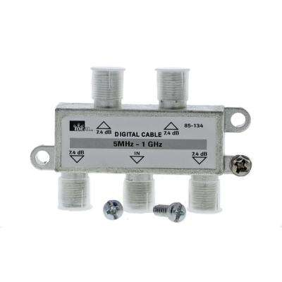 5 MHz - 1 GHz 4-Way High-Performance Cable Splitter (Standard Package, 3 Splitters)
