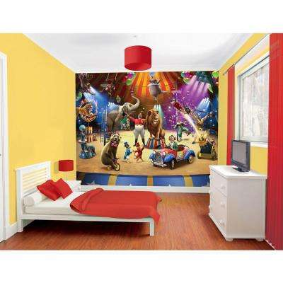 120 in. H x 96 in. W the Circus Wall Mural