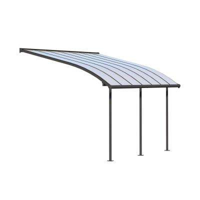 Joya 10 ft. x 14 ft. Grey Patio Cover Awning