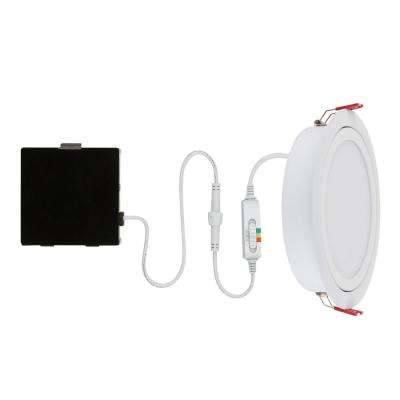 Slim Directional 6 in. Color Selectable Canless LED Recessed Kit