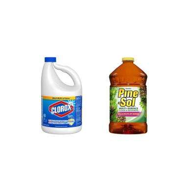 Regular Liquid Bleach and Pine Multi-Surface Cleaner Bundle