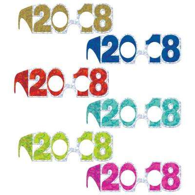 New Year's 3 in. Jewel Tone Prismatic Frames (24-Count)