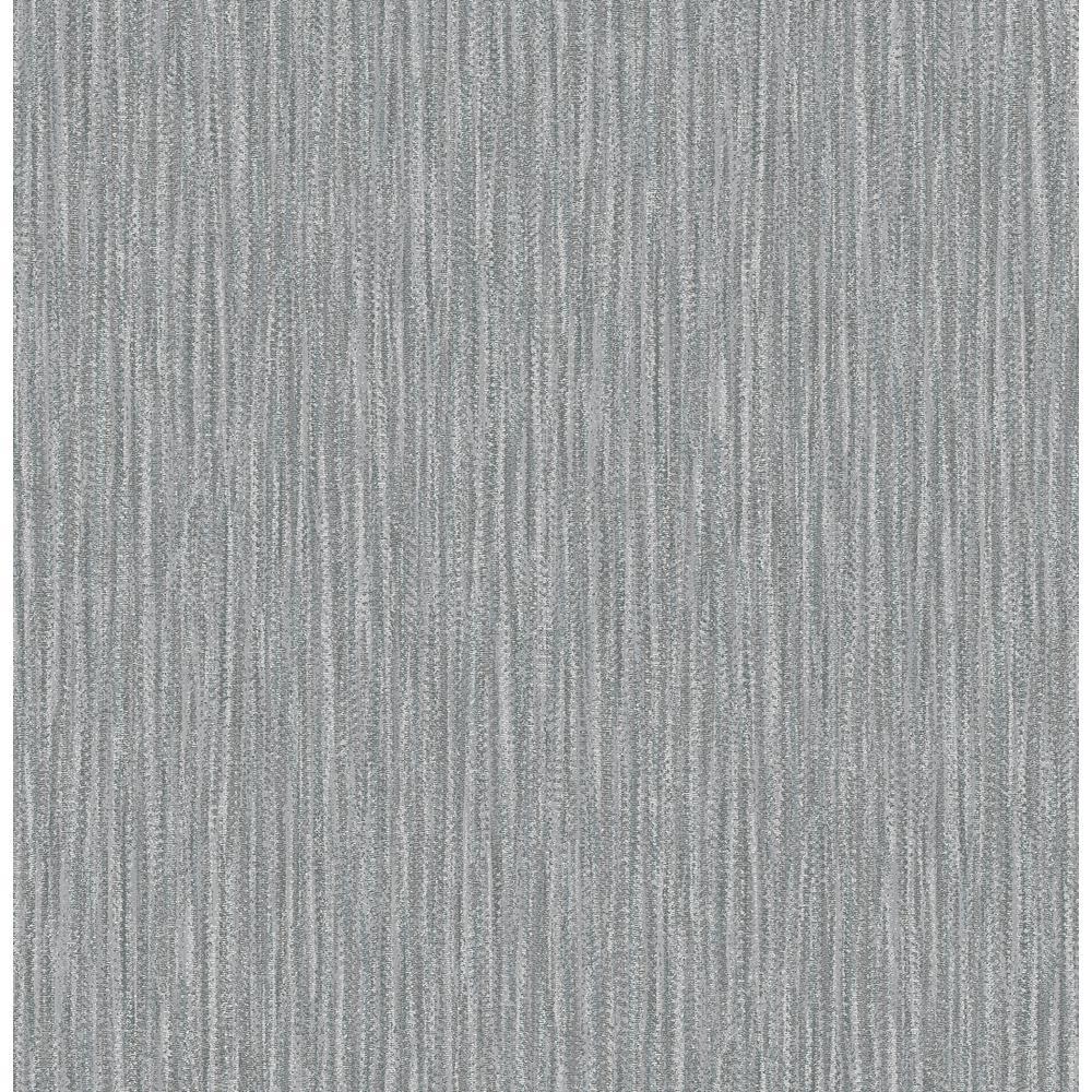 Raffia Charcoal Faux Grasscloth Wallpaper