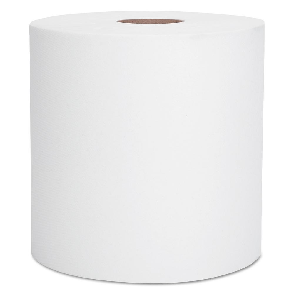 White Hard Roll Paper Towels (Case of 12)