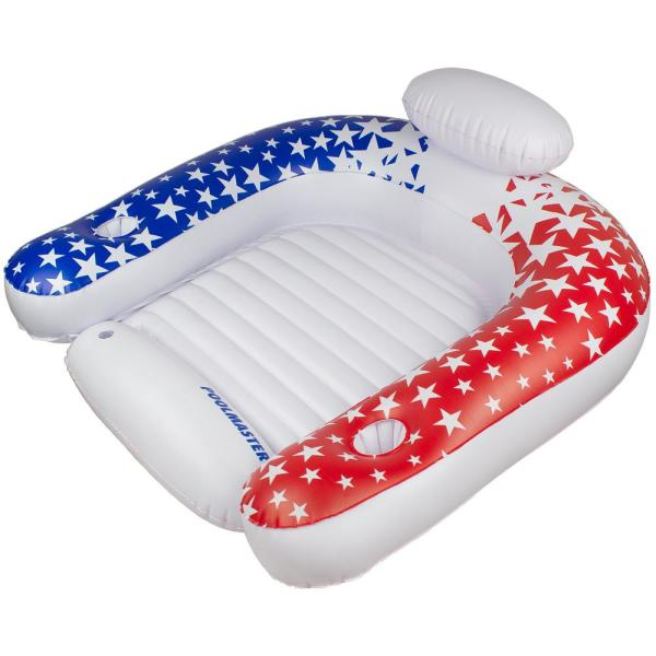 Poolmaster American Stars Paradise Chair Inflatable Swimming Pool Float