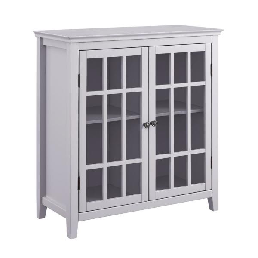 Linon Home Decor Payton Gray Double Door Cabinet