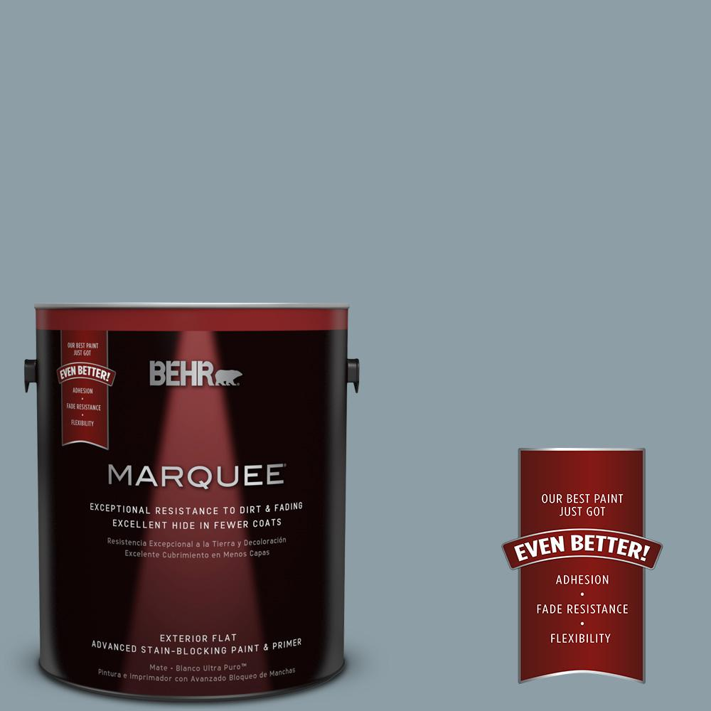 1-gal. #540F-4 Shale Gray Flat Exterior Paint