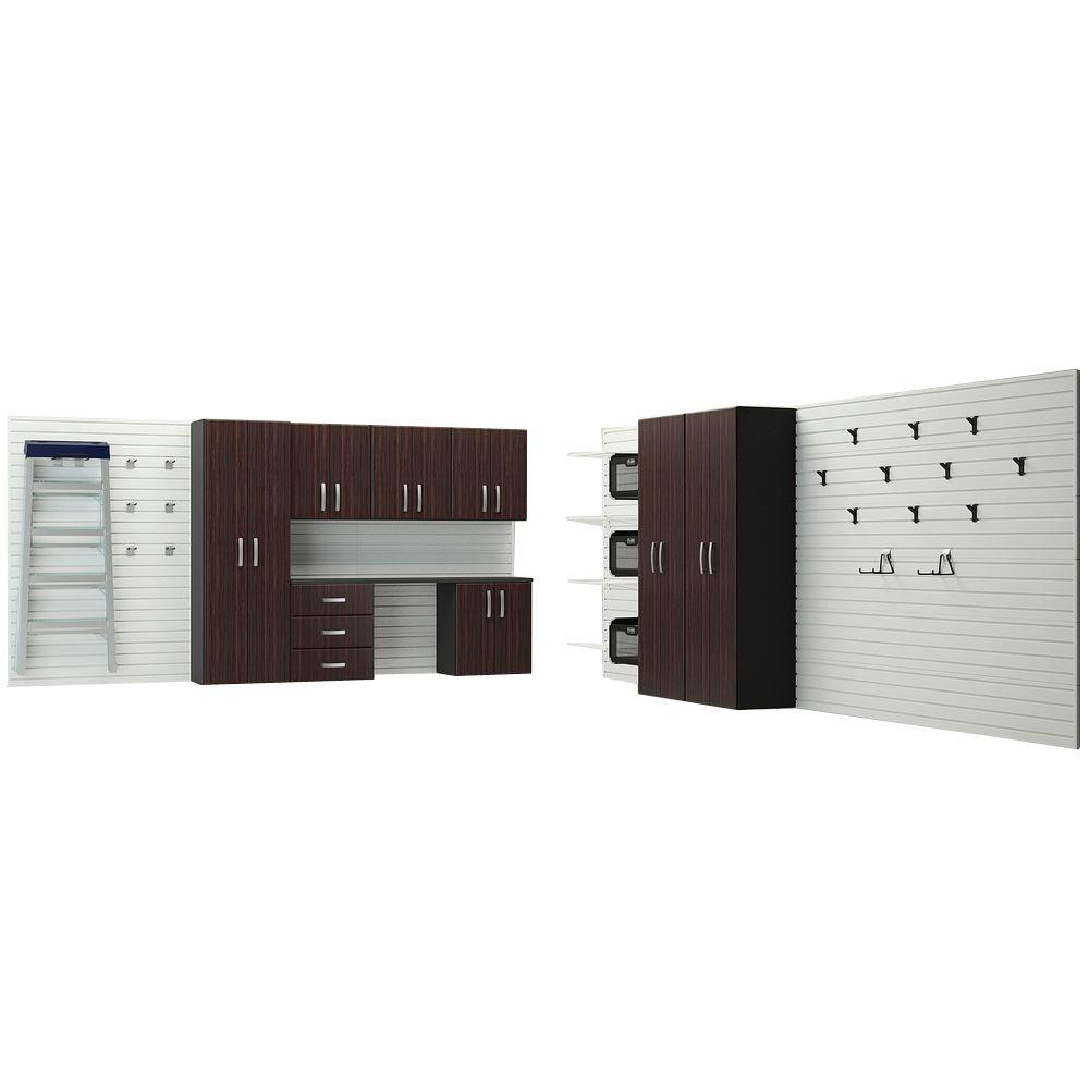 Wall Systems Product : Flow wall deluxe modular mounted garage cabinet
